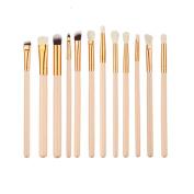 Kasla 12 Pieces Eye Shadow Foundation Makeup Brush Set