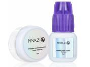 Pinkzio Eyelash Extension Glue And Eyelash Extension Glue Remover Set, Fast Dry Eyelash Extension Glue and Cream Glue Remover False Eyelash Extension Adhesive and Glue Remover set