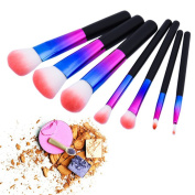 7pcs Colourful Diamond Handle Rainbow Makeup Brushes Make Up Brush Set Brochas Maquillaje Pinceaux Maquillage Beauty Tool