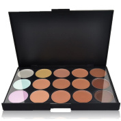 DAXUN Face Contour Kit 15 Colours Cream Foundation and Camouflage Concealer Makeup Palette - Ideal for Pro and Daily Make Up