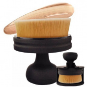 Born Beauty Large Foundation Face Cheek Brush Flat Round Makeup Powder Brush Black