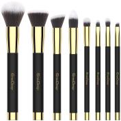 EmaxDesign 8 Pieces Makeup Brush Set Face Eye Shadow Eyeliner Foundation Blush Lip Makeup Brushes Powder Liquid Cream Cosmetics Blending Brush Tools