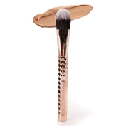 Brush Master Professional Foundation Makeup Brush with Premium Synthetic Fibre Hair Flat Kabuki for Face - Perfect For Blending Liquid, Cream or Flawless Powder Cosmetics Tools