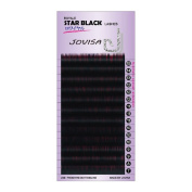 JOVISA Royale Star Black Lashes J Curl 0.10/0.15/0.20 8-14mm with Darker For Eyelash Extension