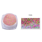 Lucoo fashion New 2g Dazzling Mixed Colours Nail Sand Powder Glitter Glitter 12 Colours Manicure