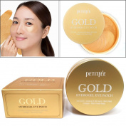 [PETITFEE] Gold Hydrogel Eye Patch 60 pcs (30 pairs) / moisture,dark circles,wrinkles / Korean Cosmetics