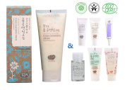 Whamisa Organic Flowers Foam Cleansing Cream 200ml with Super Miniature Cleansing Kit