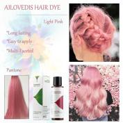 AILOVEDIS 120ml Light Pink Semi Permanent Hair Colour Dye Long Lasting Unisex Hair Dye