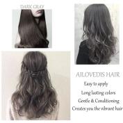 AILOVEDIS 120ml Dark Grey Semi Permanent Hair Colour Dye Long Lasting Unisex Hair Dye