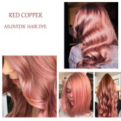 AILOVEDIS Semi Permanent Hair Colour Dye Red Copper 120ml Hair Dye Long Lasting Unisex