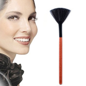 MSmask Fashion Brush Fan Shaped Black Wooden Handle Synthetic Hair Makeup Cosmetic Brushes Beauty Tool