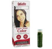 Jarosa Gifts Cosamo-Love Your Colour-Ammonia & Peroxide Free Hair Colour #755 Light Brown - Single with a Jarosa Bee Organic Peppermint Lip Balm 100% All Natural Deep Moisturising Usda Certified Organic