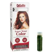 Jarosa Gifts Cosamo-Love Your Colour-Ammonia & Peroxide Free Hair Colour #780 Auburn - Single with a Jarosa Bee Organic Peppermint Lip Balm 100% All Natural Deep Moisturising Usda Certified Organic