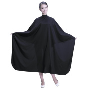 SMARTHAIR Professional Salon Cape Polyester Haircut Apron Hair Cut Cape,130cm x 140cm ,Black,C007001E-S