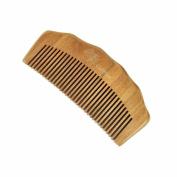 GoWoo Natural Wood Hair Comb / Beard Comb - Green Sandalwood, Handmade, Fine Tooth, Natural Aroma, for Detangle Hair and beard, NO STATIC, NO SNAGS, NO TANGLE, BPA FREE