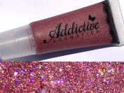 Glitter Lip Gloss Lip Junkie, VOODOO- Thick and Rich- Non Sticky Vegan Friendly and Cruelty Free Formula- Made in the USA