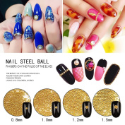 MEILINDS 3D Nails Art Decoration Mini Micro Ball Beads for Nail Studs Metal Round Ball Caviar