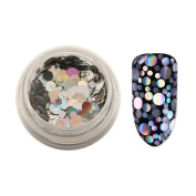 Mixed Nail Art 3D Decoration,Nail Silver Glitter Powder Nail Art Sequins