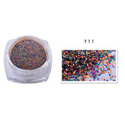 Glitter 12 Colours Nail Sand ,2g Dazzling Mixed Colours Powder Glitter