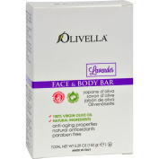 Olivella Face and Body Bar Soap Lavender - Anti Ageing Properties - Natural Ingredients - 160ml