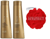 Joico K-Pak Shampoo and Conditioner KIT for Repair Damage, Shampoo - 300ml, Conditioner - 300ml FREE Shower Pouffe