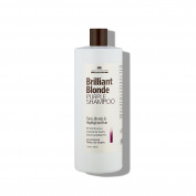 Brilliant Blonde Purple Shampoo 33.8 oz (1000 ml). Tones Blonde & Highlighted Hair. Low pH Formula, Sulphate Free, Gluten Free