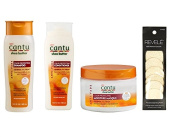 Cantu Shea Butter Colour Protecting Combo with Loofah Facial Cleansing Pads