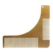 Andux Land Men's Beard Comb Stainless Steel Beard Styling Shaping TemplateBXGSZ-01