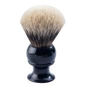 CSB Shaving Brush Made of 100% High Mountain White Badger Hair Black Resin Handle
