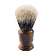 CSB Strong Backbone High Mountain White Badger Hair Shaving Brush with Faux Horn Resin Handle