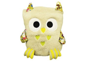 Premium Baby Blanket, Multi Purpose - Cuddly Toy, Comforter And Playmat, Best Gift For Baby Showers - Super Soft Fleece, Unisex, Fluffy, Cute & Colourful - Size 90cm x 60cm Beige Owl