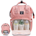 Baby Nappy Bag Backpack Multi-Function Waterproof Travel Nappy Tote Bags Large Capacity Creative Fashion Package For Both Mon & Dad//Orange