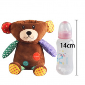 AIPINQI Removable Lovely Animal Baby Bottle Plush Insulation Cover with USB Charging Port Keeping Warm Bags