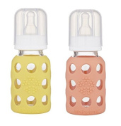 Lifefactory 120ml Glass Baby Bottle