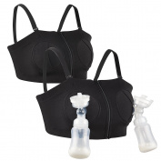 Hands-Free Adjustable Nursing Bra Breast Pump Holding Bra For Breastfeeding By Momcozy - Suitable For Breast-Pumps By Medela, Lansinoh, Philips AVENT, Bellema, Spectra Baby, Evenflo etc.