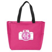 Camera Monogrammed Tote