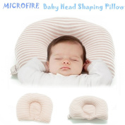 Newborn Baby Head Shaping Pillow Prenvent Plagiocephaly or Flat Head Syndrome 100% Organic Natural Cotton
