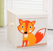 Collapsible Cube Storage Box and Toy Bin with Lid 33cm -Perfect for Organising Kid's Toys, Clothing,Books, Gift Baskets