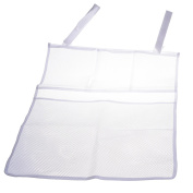 BCP Dirty Clothes Nappies Bedside Caddy Mesh Hanging Storage Bag Organiser Holder For Cribs Bed