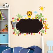 Pakdeevong shop Cute lion animal wall sticker PVC flower chalk board blackboard wall sticker wallpaper decal wallpaper wallpaper kids room decorate house.