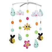 Unisex Baby Musical Mobile, Nursery Crib Cot Musical Mobile, Colourful