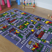 Kids / Baby Room / Daycare / Classroom / Playroom Area Rug - Great For Playing With Cars - Play, Learn And Have Fun Safely