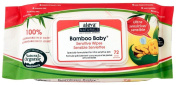 Aleva Naturals Bamboo Baby Sensitive Wipes - Unscented - 72 ct