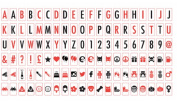 Extra Letters, Numbers & Symbols Pack Black & White For Light Up Your Life Box