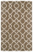 Kaleen Rugs Revolution Collection REV03-82 Lt. Brown Hand Tufted 0.6m x 0.9m Rug
