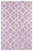 Kaleen Rugs Revolution Collection REV03-90 Lilac Hand Tufted 0.6m x 0.9m Rug