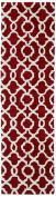 Kaleen Rugs Revolution Collection REV03-25 Red Hand Tufted 0.6m x 2.4m Rug