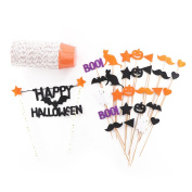 Decorative Cake Toppers Halloween Cupcake Decoration,50-pieces Cake Topper
