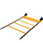 Agility Ladder Fitness Training Equipment | 6 Metres (20 Feet), 12 Adjustable Rungs + Carry Bag + 10 Bonus Cones | Improve Your Skills