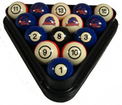 NCAA Boise State Broncos Numbered Pool Balls Set - College Football Billiards